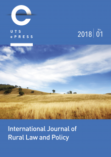 International Journal of Rural Law and Policy - No. 1 (2018) cover