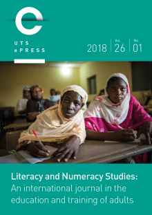 Literacy and Numeracy Studies cover: Volume 26, Issue 1 (2018).