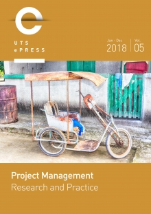 Project Management Research and Practice, volume 5, 2018