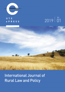 Cover: International Journal of Rural Law and Policy - No. 1 (2019)
